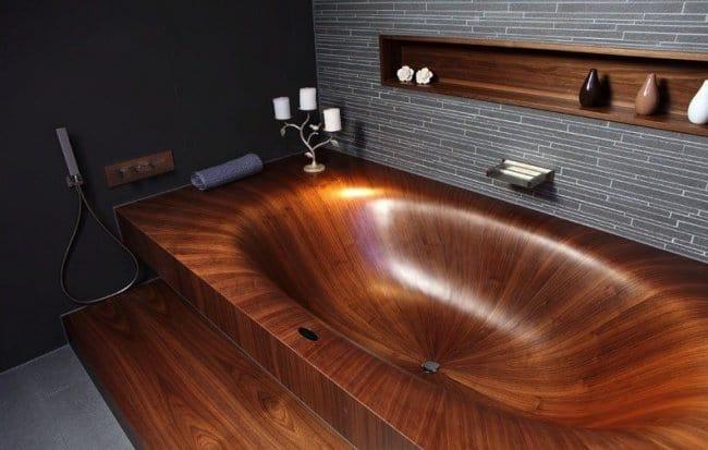 Luxurious Bath Tubs wooden tub