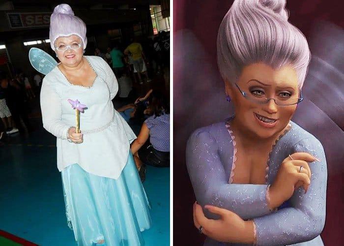 Mom Has Incredible Cosplay Skills fairy godmother shrek
