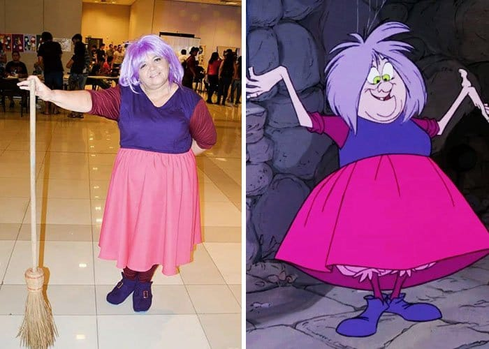 Mom Has Incredible Cosplay Skills madame mim the sword in the stone