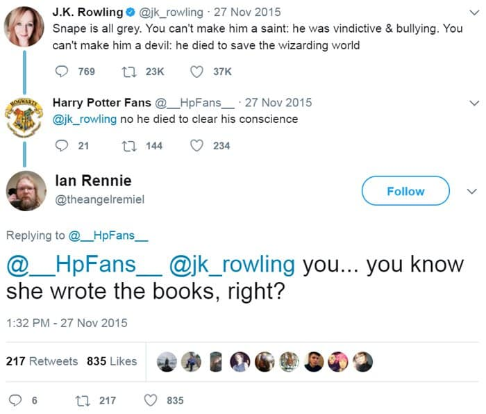 Moments People Didn't Realize Who They Were Talking To jk rowling