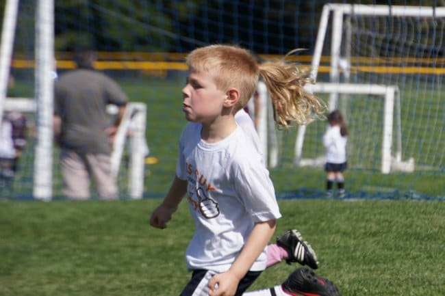 Photos You'll Have To Look Twice At boy with pony tail