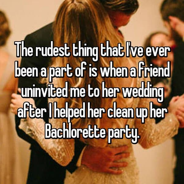 Shocking Reasons People Were Uninvited From Weddings clean up