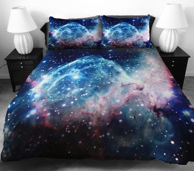 Space Themed Interior Design Ideas galaxy bedding