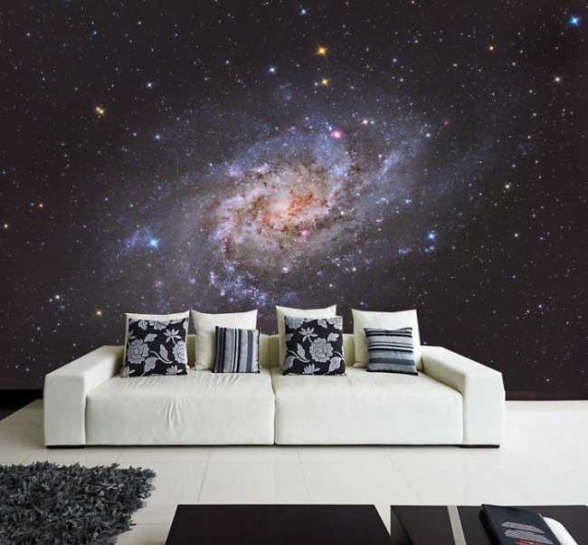 Space Themed Interior Design Ideas galaxy wall decal