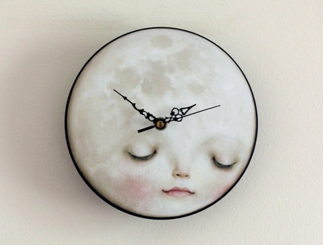 Space Themed Interior Design Ideas moon clock