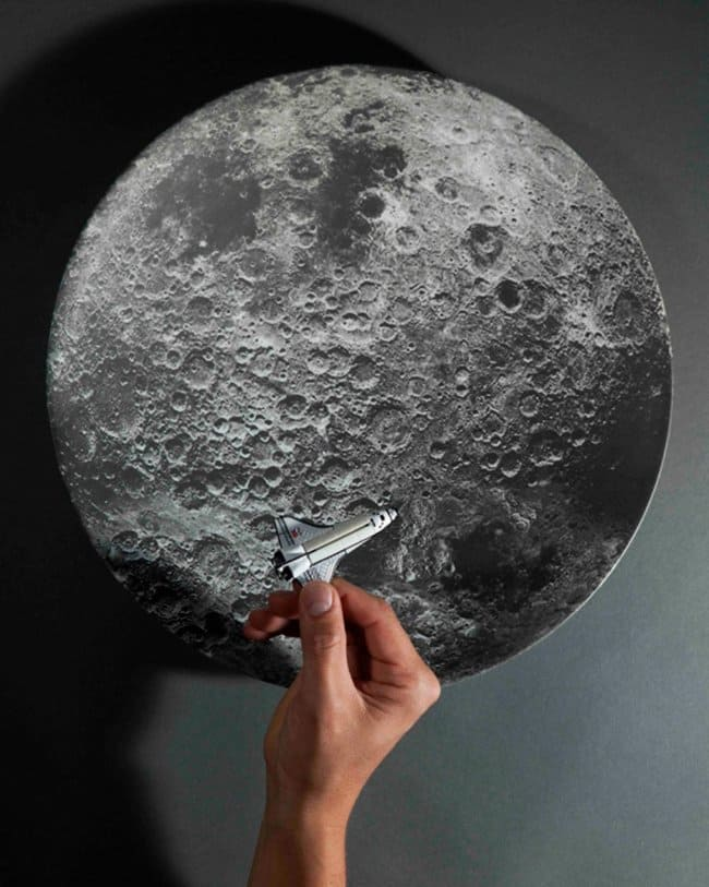 Space Themed Interior Design Ideas moon plate
