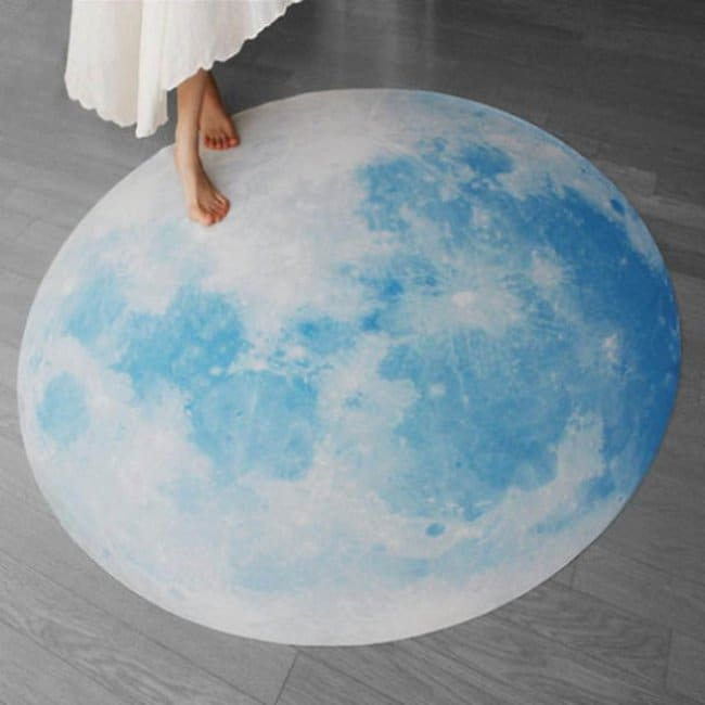 Space Themed Interior Design Ideas moon rug