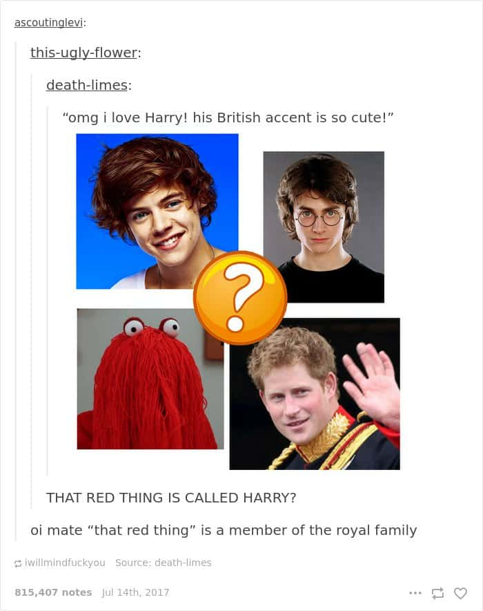 Times Americans Were Surprised And Confused By British Things red thing harry