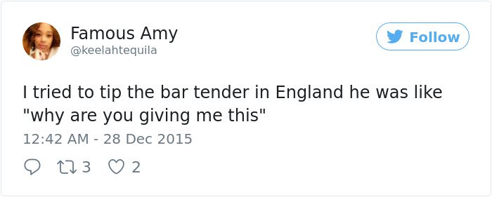 Times Americans Were Surprised And Confused By British Things tip bartender
