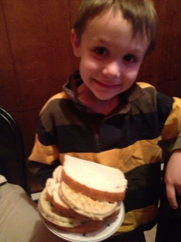 Times Kids Gave Innocent Gifts waffle sandwich