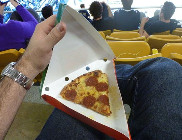 Times People Lost The Food Lottery small pizza slice