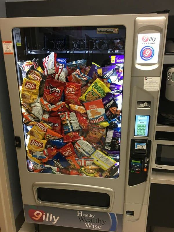 Times People Won The Food Lottery vending machine dispensed everything at once