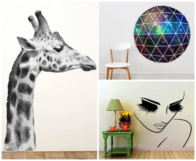 Wall Art Ideas giraffe sticker