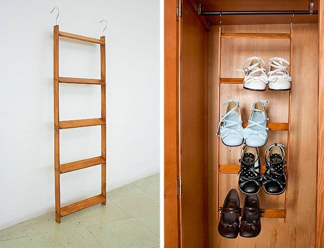Ways To Store Your Shoes ladder
