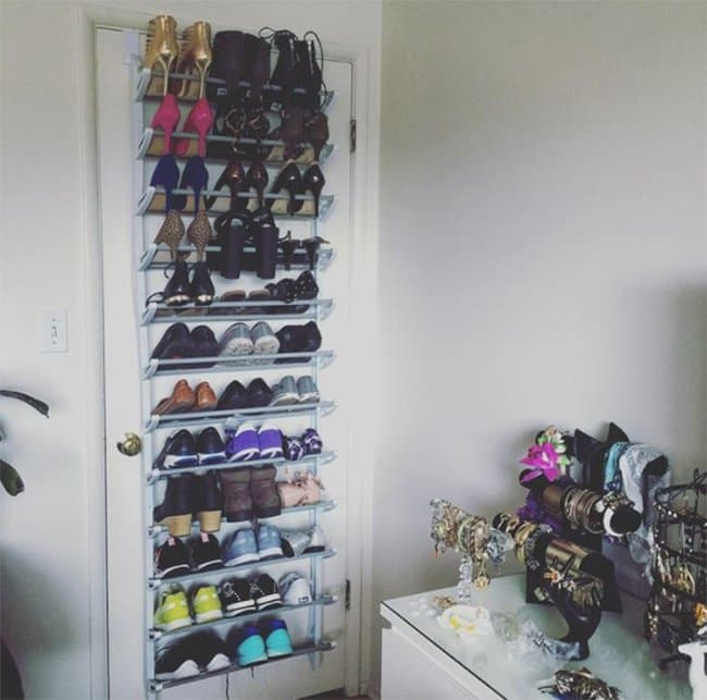 Ways To Store Your Shoes over the door hanger