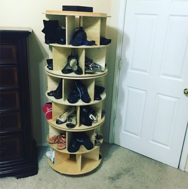 Ways To Store Your Shoes round pillar