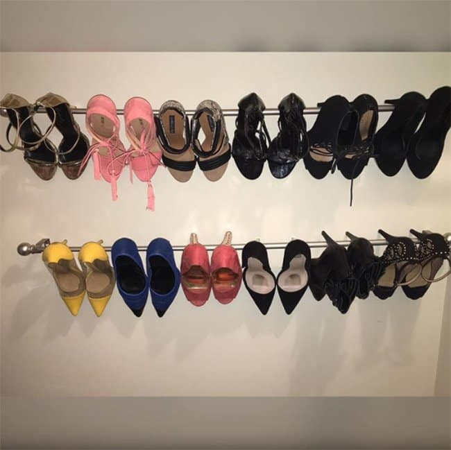 Ways To Store Your Shoes wall rack