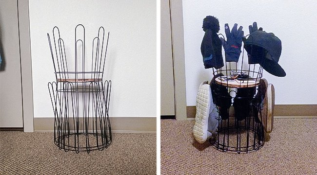 Ways To Store Your Shoes wire shoe holder