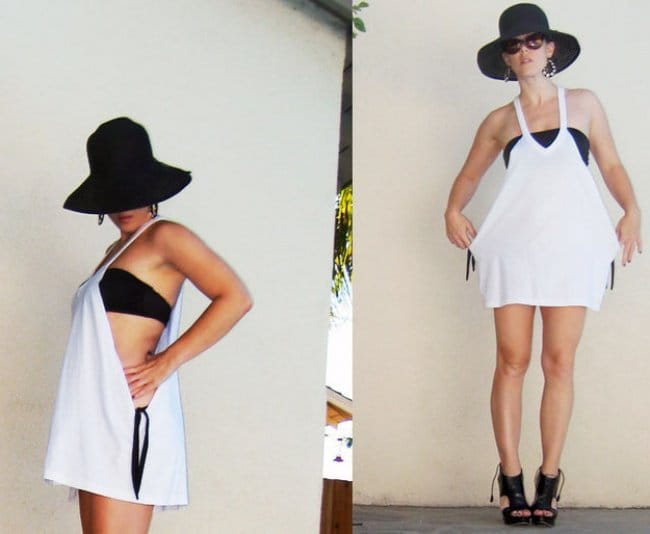 Ways To Transform An Old T-shirt bathing shirt
