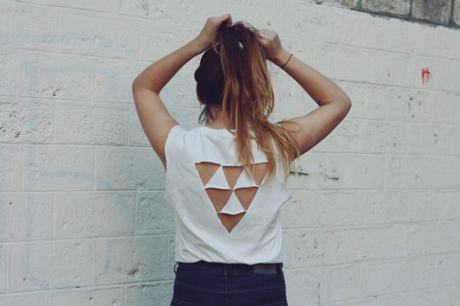 Ways To Transform An Old T-shirt triangles