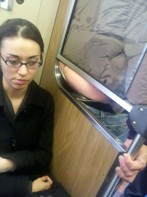 Weirdest People Ever Spotted On The Subway butt cheeks
