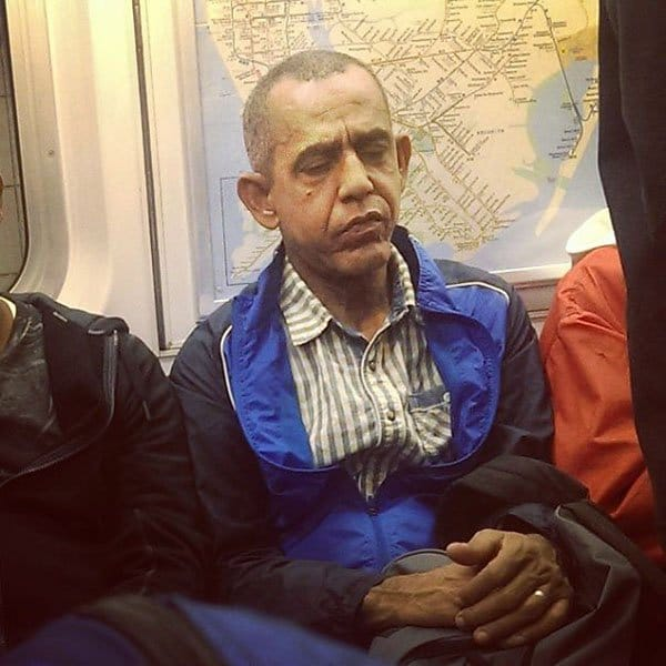 Weirdest People Ever Spotted On The Subway future obama