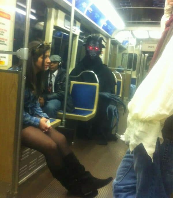 Weirdest People Ever Spotted On The Subway monster