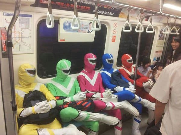 Weirdest People Ever Spotted On The Subway power rangers