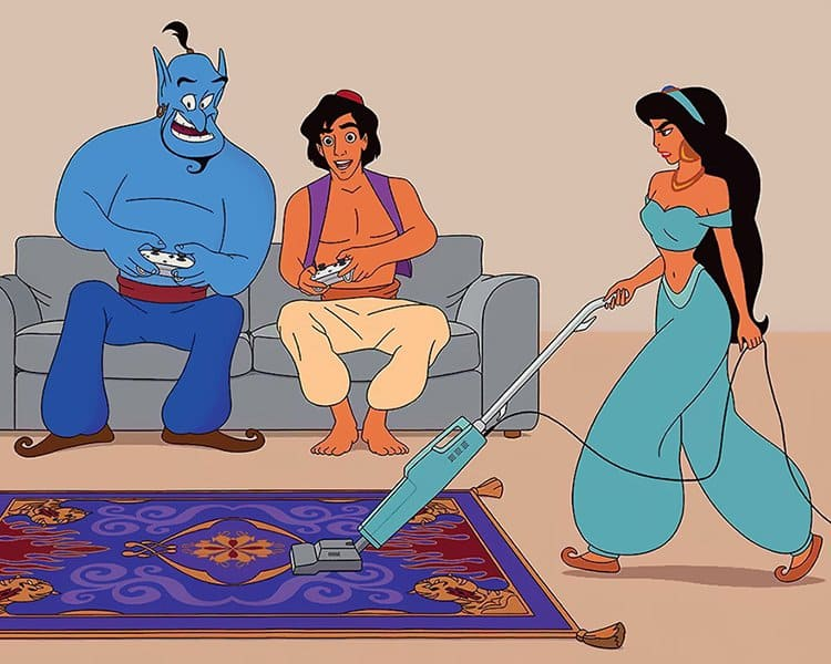 What Disney Movies Would Be Like In 2017 jasmine cleaning
