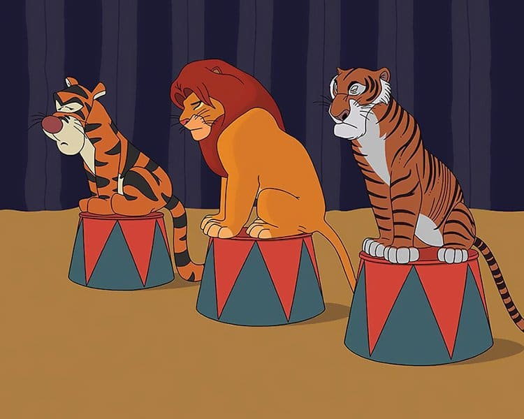What Disney Movies Would Be Like In 2017 tigers and lions in circus