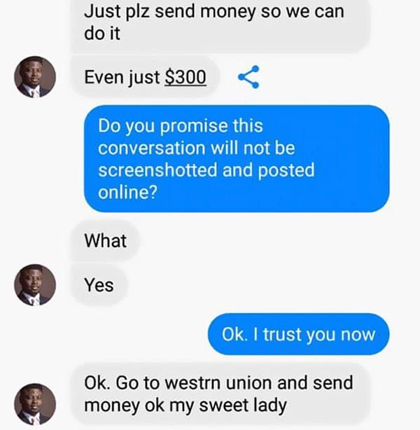 Woman Shuts Down Scammer even just 300