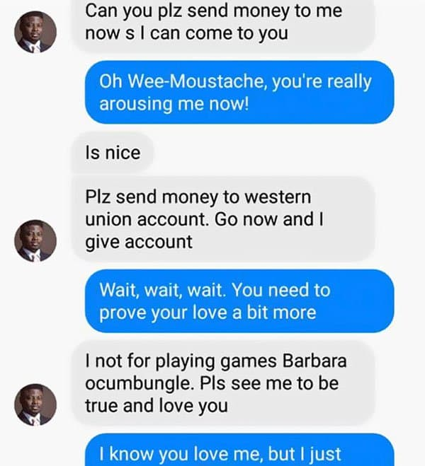 Woman Shuts Down Scammer i can come to you