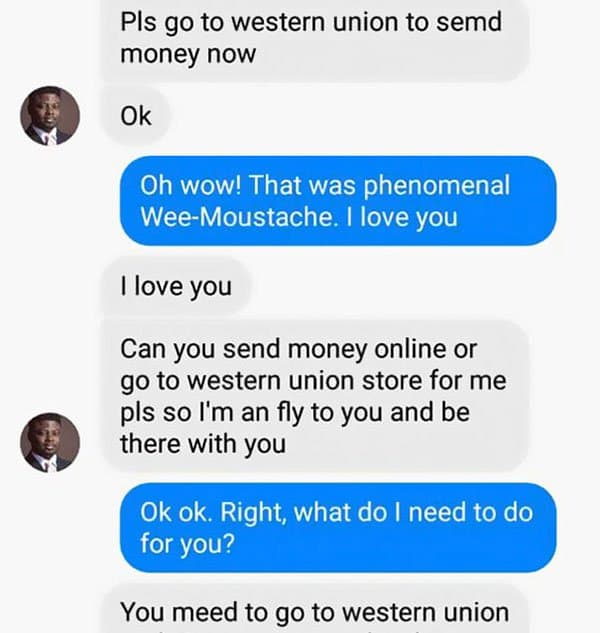 Woman Shuts Down Scammer please go to western union