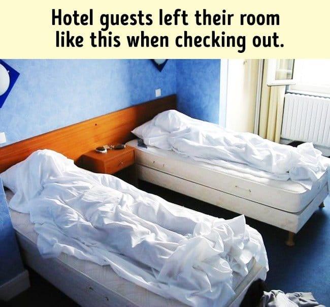 Amusing Jokes bodies hotel beds