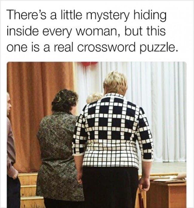 Amusing Jokes crossword puzzle shirt