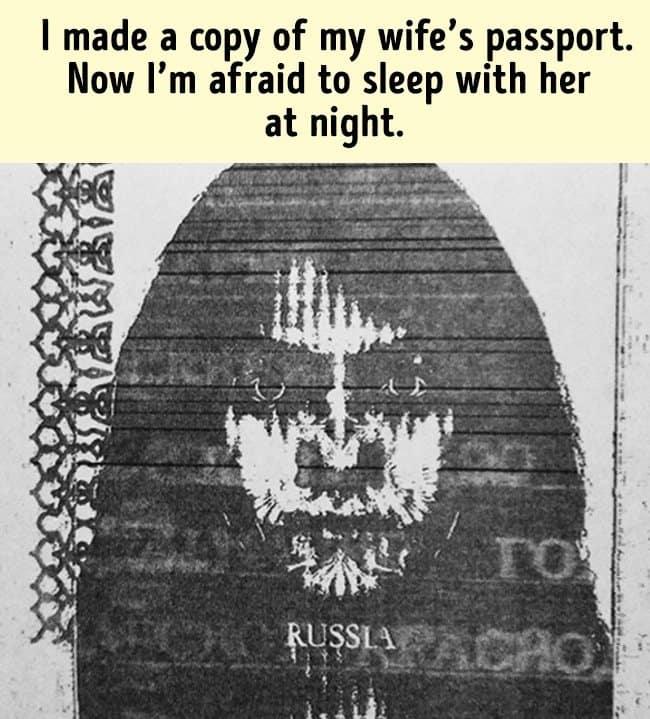 Amusing Jokes scary passport photo
