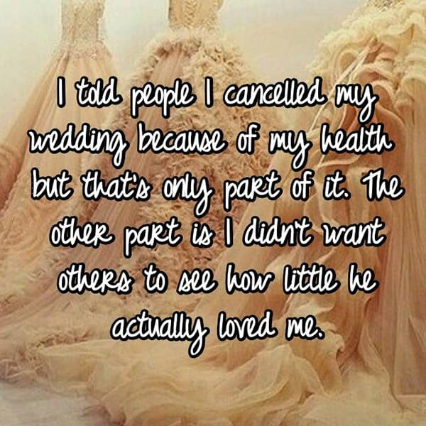 Brides Share The Reasons They Cancelled Their Weddings health