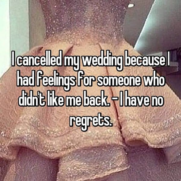 Brides Share The Reasons They Cancelled Their Weddings no regrets