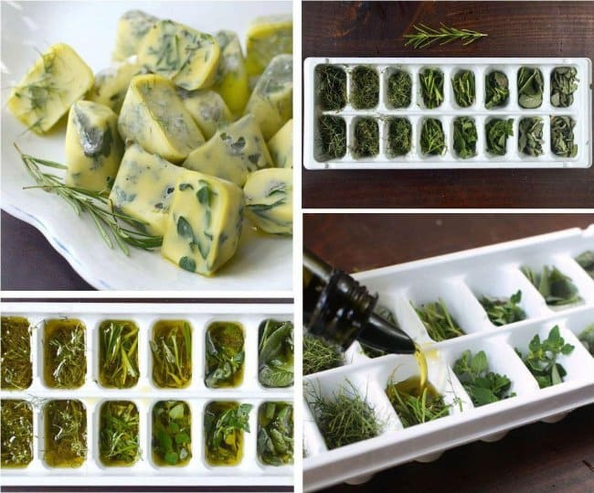Brilliant Kitchen Tricks herbs ice cube tray