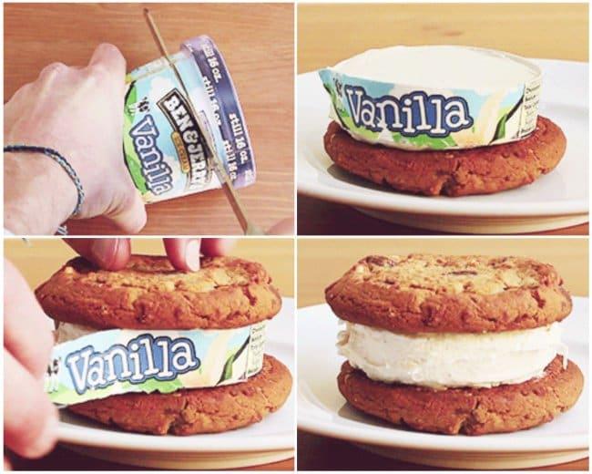 Brilliant Kitchen Tricks ice cream sandwich