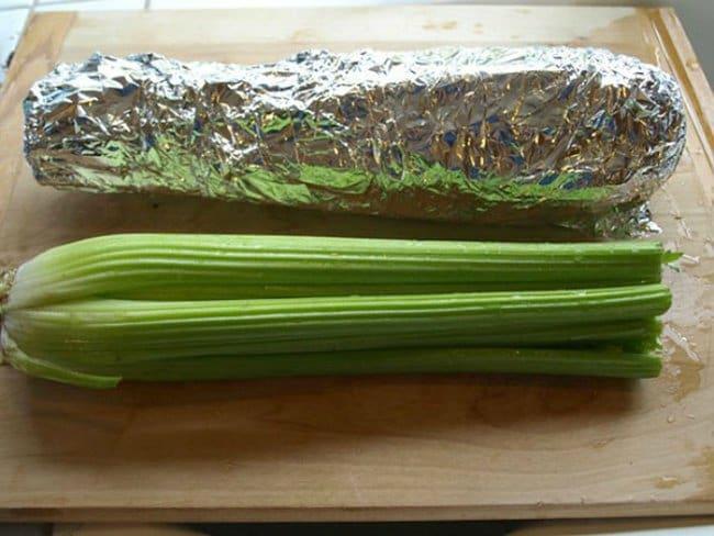 Brilliant Kitchen Tricks wrap in foil