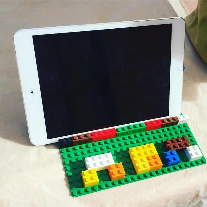 Clever Inventions Made By Kids lego ipad holder