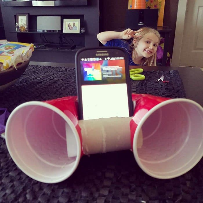 Clever Inventions Made By Kids phone speakers