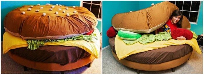 Creative And Comfy Looking Beds hamburger