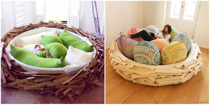 Creative And Comfy Looking Beds nest bed
