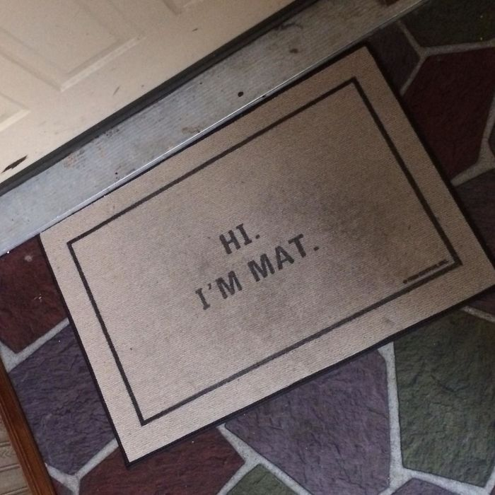 Creative And Hilarious Doormats hi im mat
