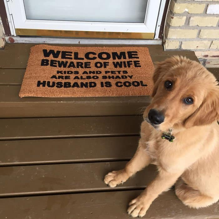 Creative And Hilarious Doormats husband is cool