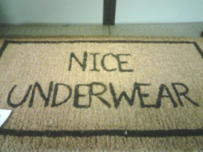 Creative And Hilarious Doormats nice underwear