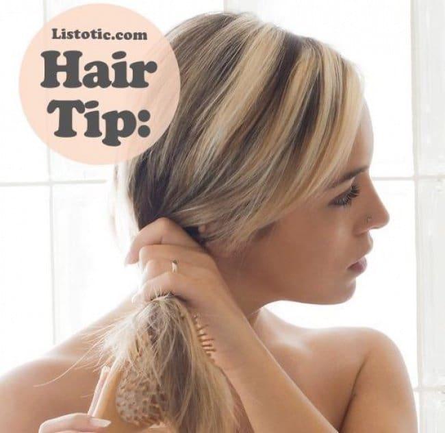 Effective Hair Care Tips brush hair before shower