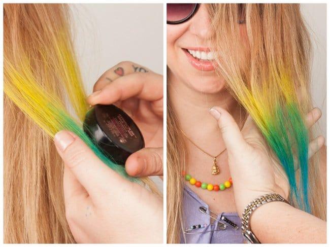 Effective Hair Care Tips eye shadow hair chalk